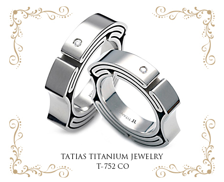 TATIAS Titanium Couple Ring T-752 CO