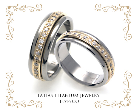 TATIAS Titanium Couple Ring T-516 CO