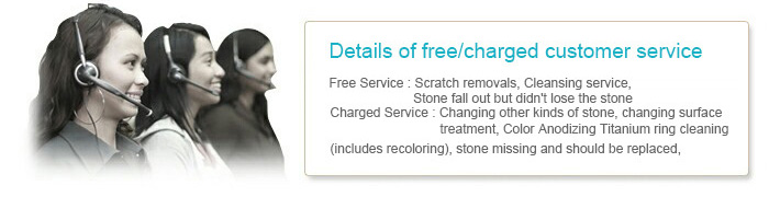 Details of free/charged customer service
