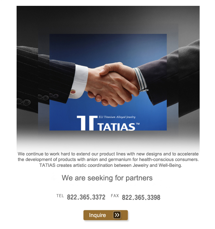 TATIAS continue to work hard to extend our product lines with new designs and to accelerate the development of products.