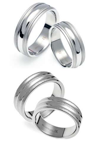 TATIAS Titanium Couple Ring