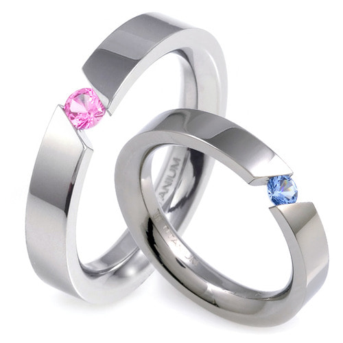 T-569 CO - TATIAS, Titanium Couple Ring