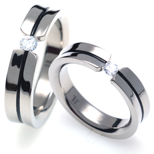 TQ-205 DIA  CO - TATIAS, Titanium Couple Ring