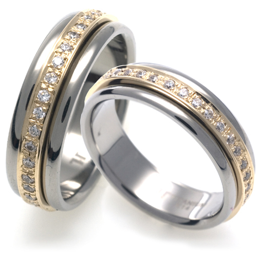 T-516 CO - TATIAS, Titanium Couple Ring