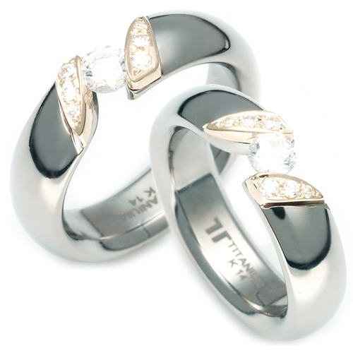 TQ-920 DIA CO - TATIAS, Titanium Couple Ring