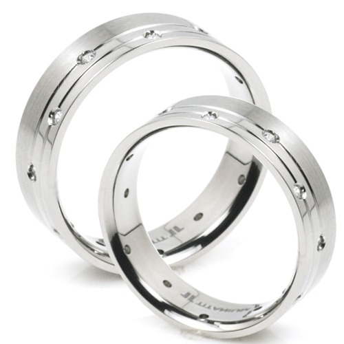 T-916S CE - TATIAS, Titanium Couple Ring