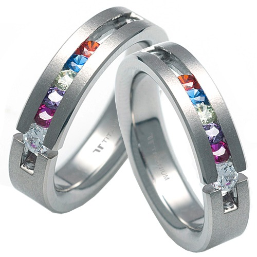 T-285 CO - TATIAS, Titanium Couple Ring