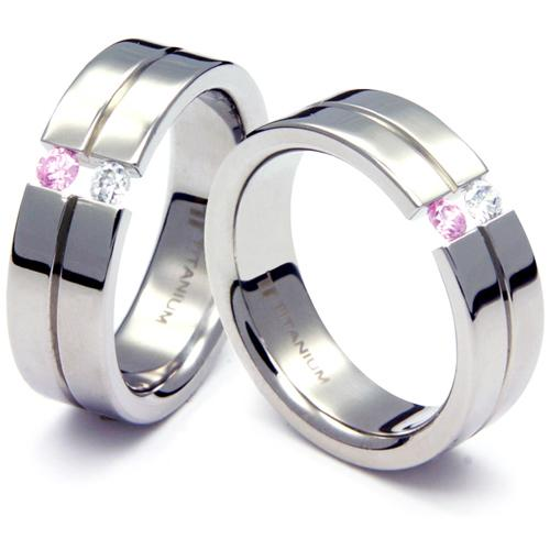 TQ-103 CE - TATIAS, Titanium Couple Ring