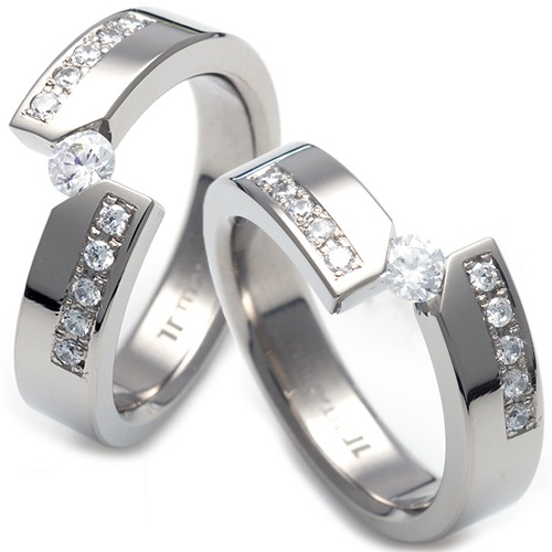 T-076 CO - TATIAS, Titanium Couple Ring