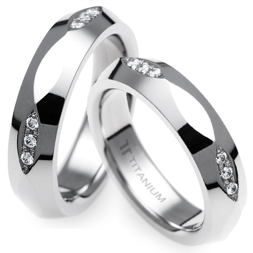 T-361 CO - TATIAS, Titanium Couple Ring