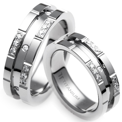 T-372 DIA CO - TATIAS, Titanium Couple Ring