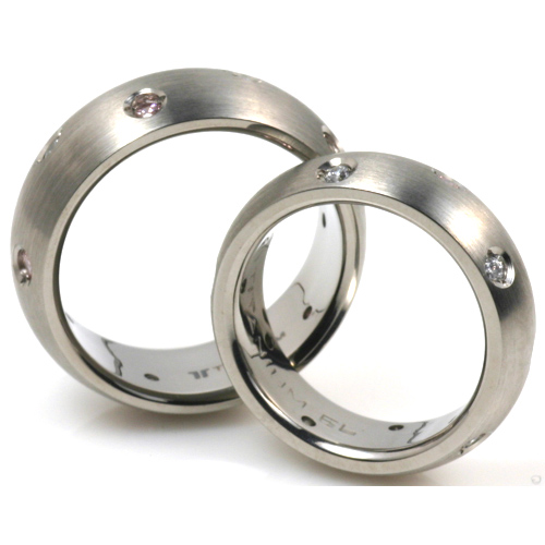 T-905 DIA CE - TATIAS, Titanium Couple Ring