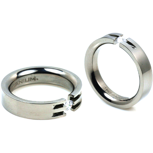 T-724 T-725 CE - TATIAS, Titanium Couple Ring