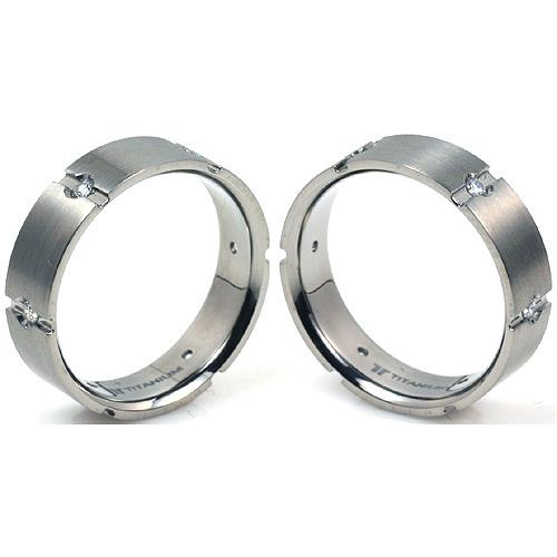 T-912 CE - TATIAS, Titanium Couple Ring
