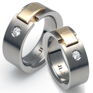 T-903 CO - TATIAS, Titanium Couple Ring