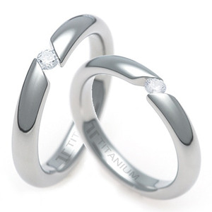 TQ-853 DIA CO - TATIAS, Titanium Couple Ring