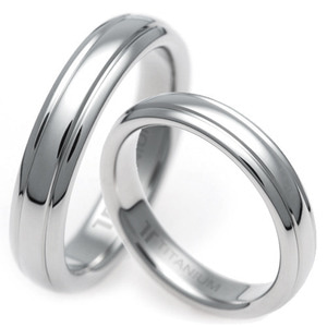T-852 CO - TATIAS, Titanium Couple Ring