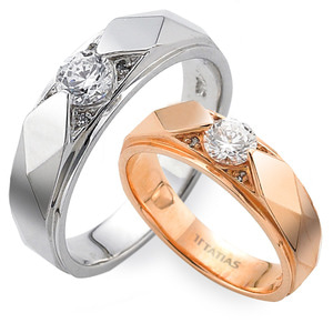 GR-276 CO - TATIAS, 14K & 18K Gold Couple Ring