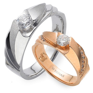 GR-280 CO - TATIAS, 14K & 18K Gold Couple Ring