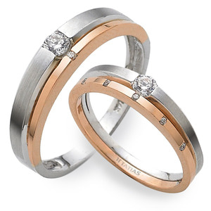 GR-309 CO - TATIAS, 14K & 18K Gold Couple Ring
