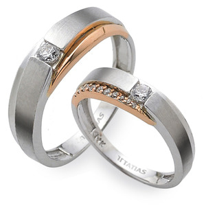GR-310 CO - TATIAS, 14K & 18K Gold Couple Ring
