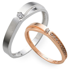 GR-313 CO - TATIAS, 14K & 18K Gold Couple Ring