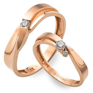 GR-368 CO - TATIAS, 14K & 18K Gold Couple Ring