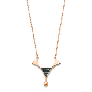GN-035 - TATIAS, 14K & 18K Gold Pendant Necklace
