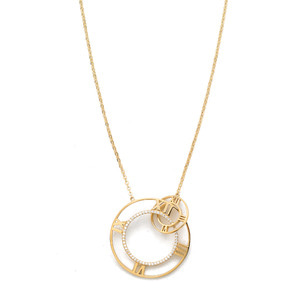 GN-142 - TATIAS, 14K & 18K Gold Pendant Necklace