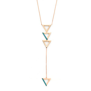 GN-323 - TATIAS, 14K & 18K Gold Pendant Necklace