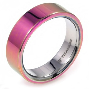 T-203 - TATIAS, Anodizing Colored Titanium Ring