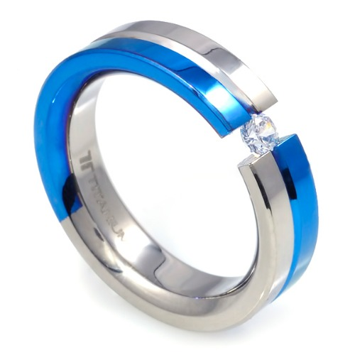 T-227 DIA - TATIAS, Titanium Ring set with Diamonds