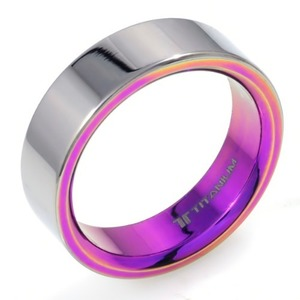 T-173 - TATIAS, Anodizing Colored Titanium Ring