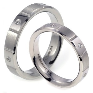 T-617 CO - TATIAS, Titanium Couple Ring