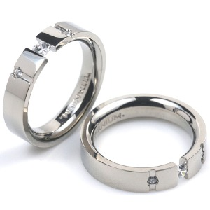 T-720 CE - TATIAS, Titanium Couple Ring