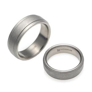 T-006A CO - TATIAS, Titanium Couple Ring