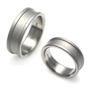 T-006B CO - TATIAS, Titanium Couple Ring