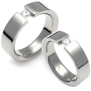 T-704 CO - TATIAS, Titanium Couple Ring