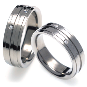 T-326 CO - TATIAS, Titanium Couple Ring