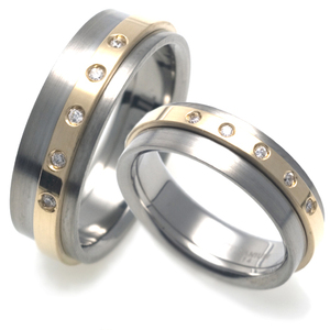 T-517 CO - TATIAS, Titanium Couple Ring