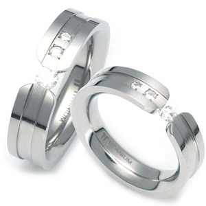 T-703 CO - TATIAS, Titanium Couple Ring