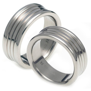 T-080 CO - TATIAS, Titanium Couple Ring