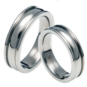 T-023 CO - TATIAS, Titanium Couple Ring