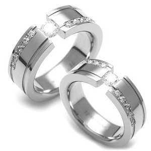 TW-337 CO - TATIAS, Titanium Couple Ring