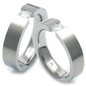 TW-012 CO - TATIAS, Titanium Couple Ring