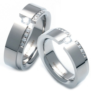TQ-228 CO - TATIAS, Titanium Couple Ring