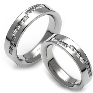 T-015 CO - TATIAS, Titanium Couple Ring