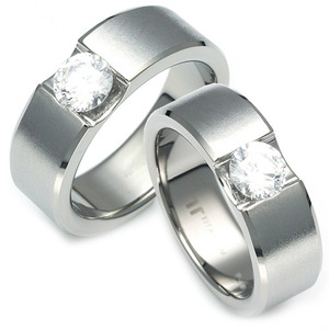 TW-053 CO - TATIAS, Titanium Couple Ring