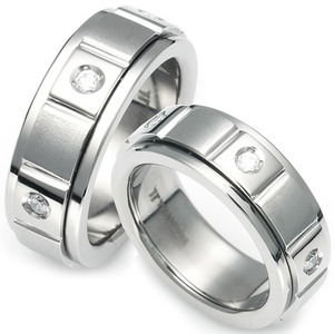 T-957 CO - TATIAS, Titanium Couple Ring