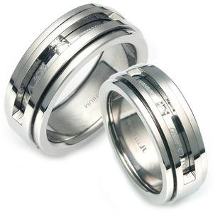 T-958 CO - TATIAS, Titanium Couple Ring